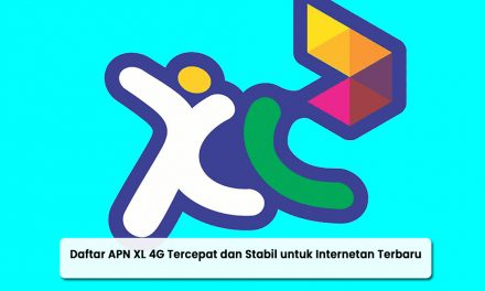 Daftar APN XL 4G Tercepat dan Stabil untuk Internetan Terbaru 2021
