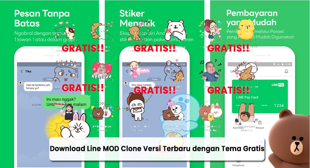 Download Line MOD Clone Versi Terbaru dengan Tema Gratis