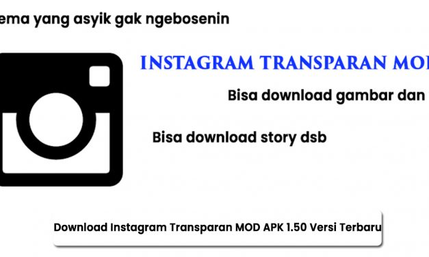 Download Instagram Transparan MOD APK 1.50 Versi Terbaru