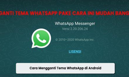 Cara Mengganti Tema Whatsapp di Android
